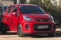 Cần bán xe Kia Morning 1.0MT sản xuất 2015, màu đỏ