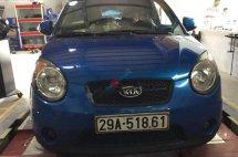 Bán Kia Morning đời 2008, màu xanh lam, xe nhập xe gia đình giá cạnh tranh