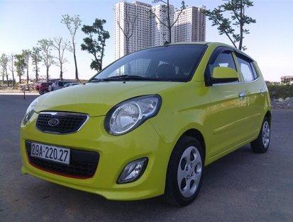 Cần bán xe Kia Morning SLX năm 2012, màu vàng, chính chủ, 266tr