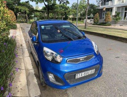 Chính chủ bán Kia Morning S 1.25 AT 2014, màu xanh lam